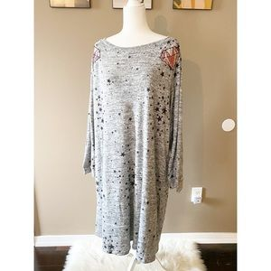 NWT Melissa Masse Diamonds Gray Sequin Dress